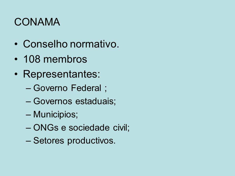 CONAMA Conselho normativo.