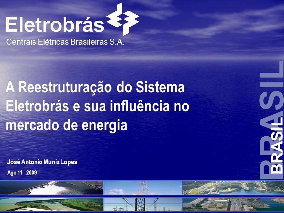 BRASIL Centrais Elétricas Brasileiras S.A. José Antonio Muniz Lopes Contato : pr@eletrobras.com