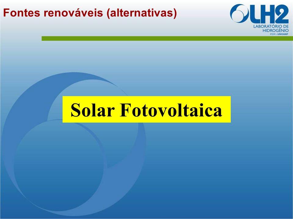 Fontes renováveis (alternativas) Solar Fotovoltaica