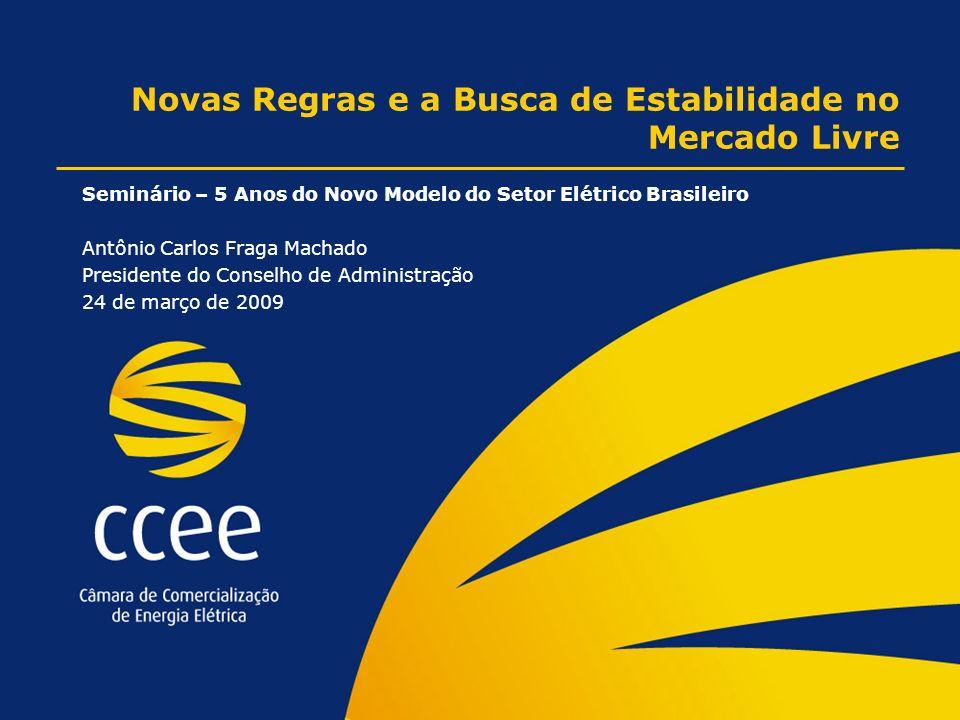 Novas Regras e a Busca de Estabilidade no Mercado Livre Seminário – 5 Anos do Novo Modelo do Setor Elétrico Brasileiro Antônio Carlos Fraga Machado Presidente do Conselho de Administração 24 de março de 2009