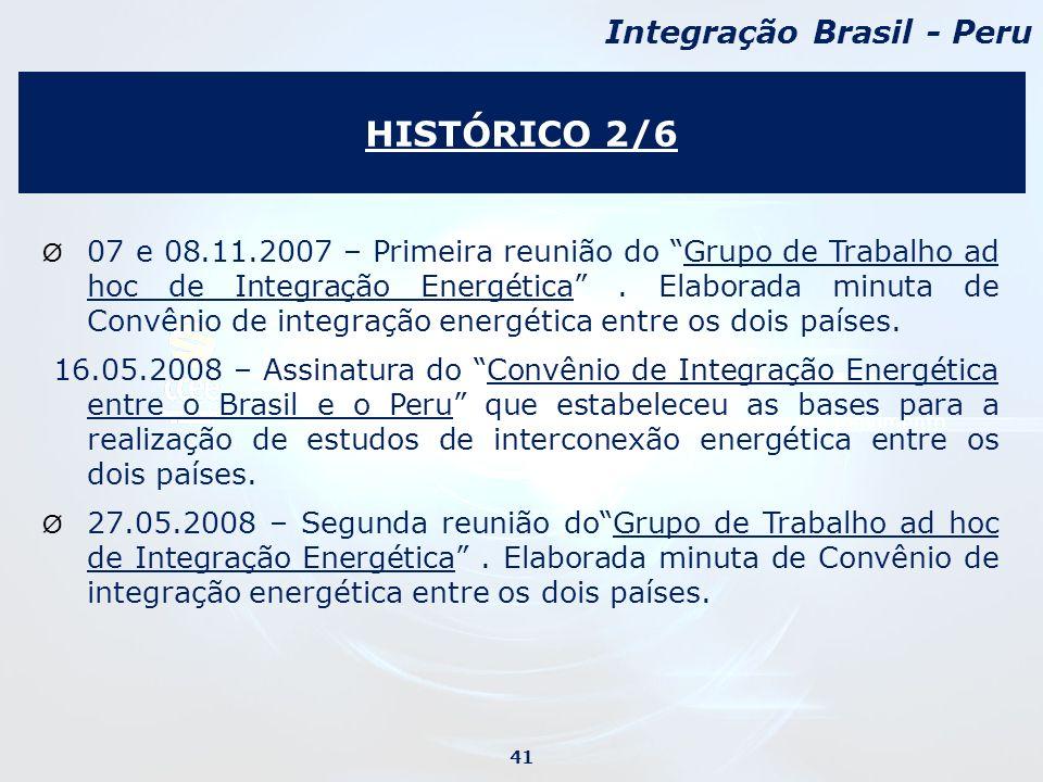 Ø 07 e 08.11.2007 – Primeira reunião do Grupo de Trabalho ad hoc de Integração Energética.