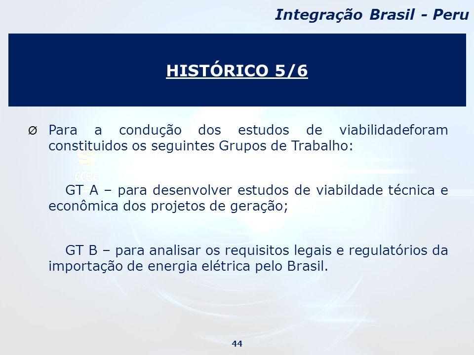 Ø Para a condução dos estudos de viabilidadeforam constituidos os seguintes Grupos de Trabalho: GT A – para desenvolver estudos de viabildade técnica e econômica dos projetos de geração; GT B – para analisar os requisitos legais e regulatórios da importação de energia elétrica pelo Brasil.