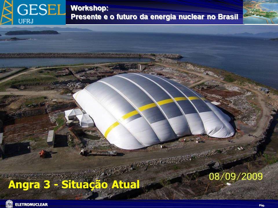 Pág. ELETRONUCLEAR Workshop: Presente e o futuro da energia nuclear no Brasil Angra 3 - Situação Atual