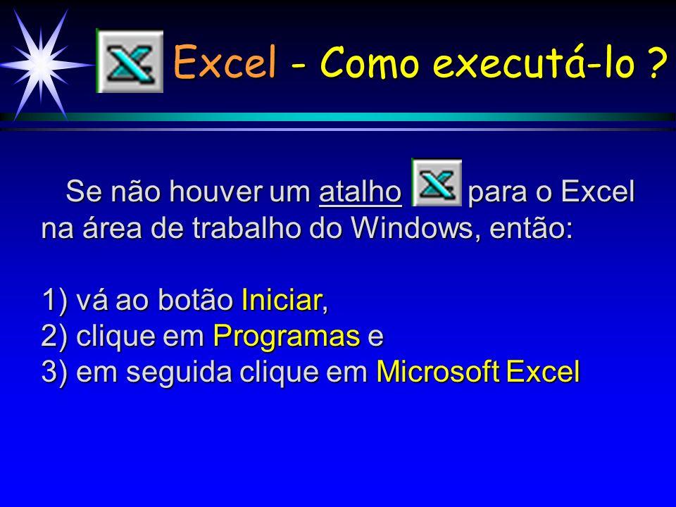 Excel - Como executá-lo .