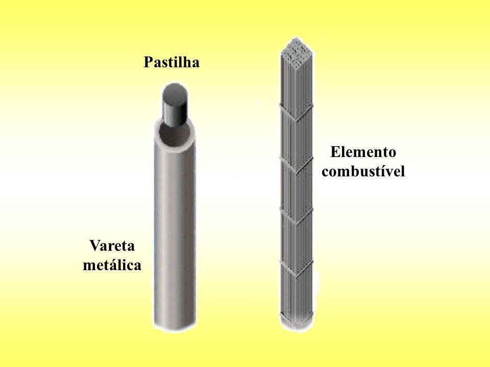 Pastilha Vareta metálica Elemento combustível