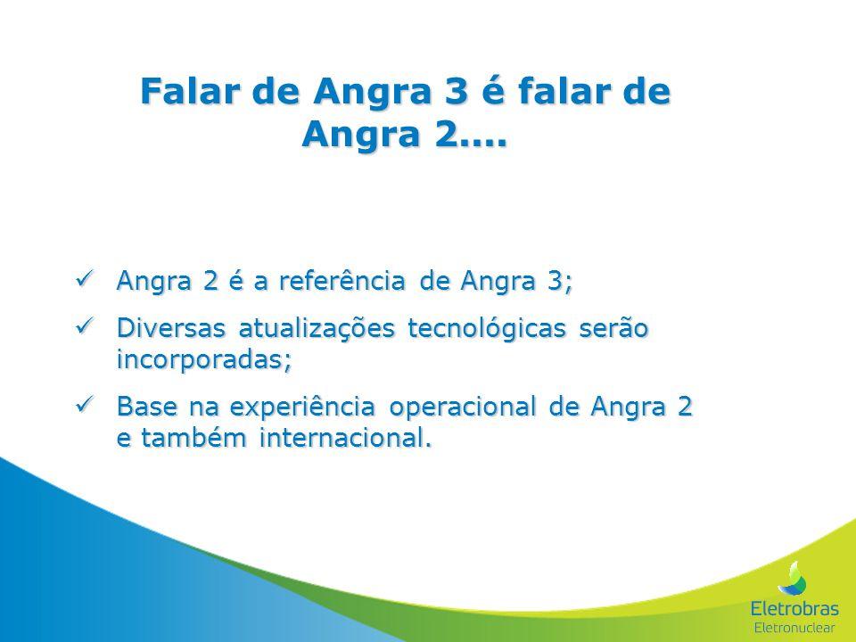 Falar de Angra 3 é falar de Angra 2.... Angra 2 é a referência de Angra 3; Angra 2 é a referência de Angra 3; Diversas atualizações tecnológicas serão