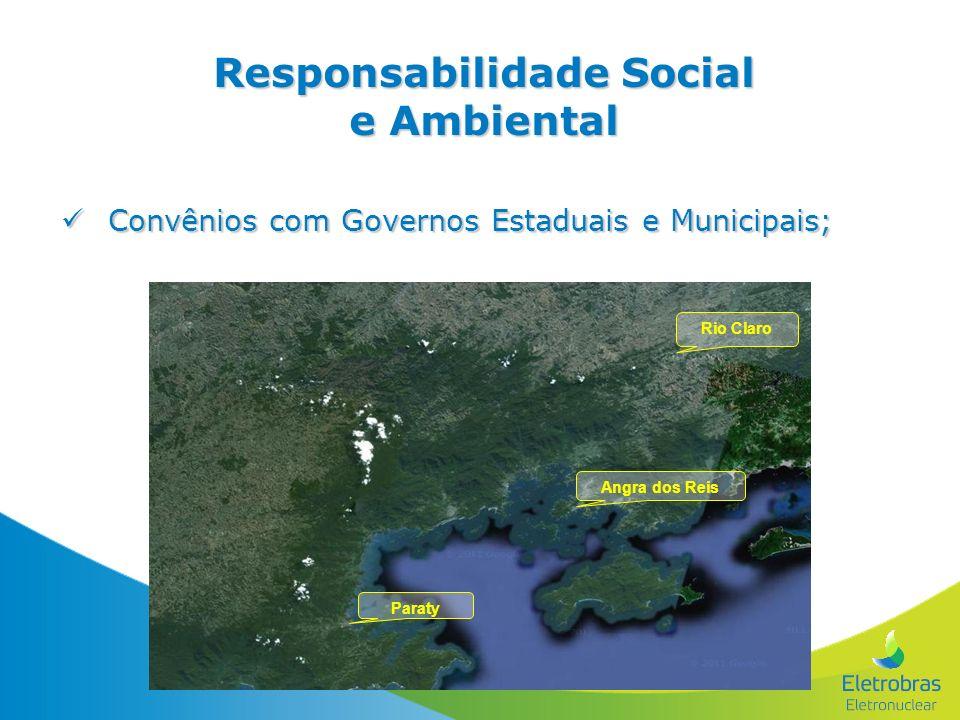 Convênios com Governos Estaduais e Municipais; Convênios com Governos Estaduais e Municipais; Responsabilidade Social e Ambiental Angra dos Reis Parat