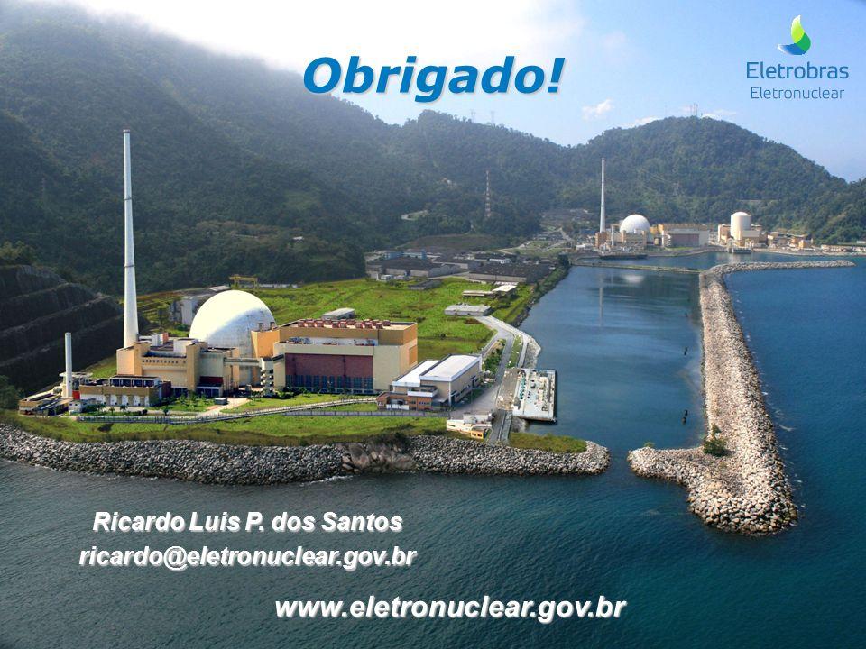 Obrigado! Ricardo Luis P. dos Santos ricardo@eletronuclear.gov.br www.eletronuclear.gov.br