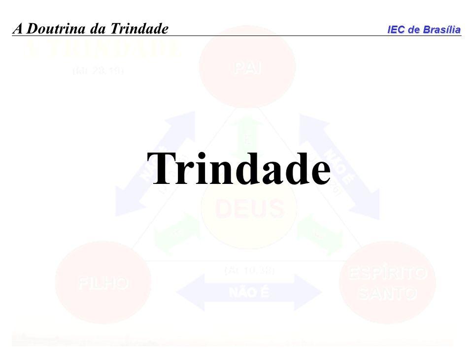 IEC de Brasília A Doutrina da Trindade Trindade