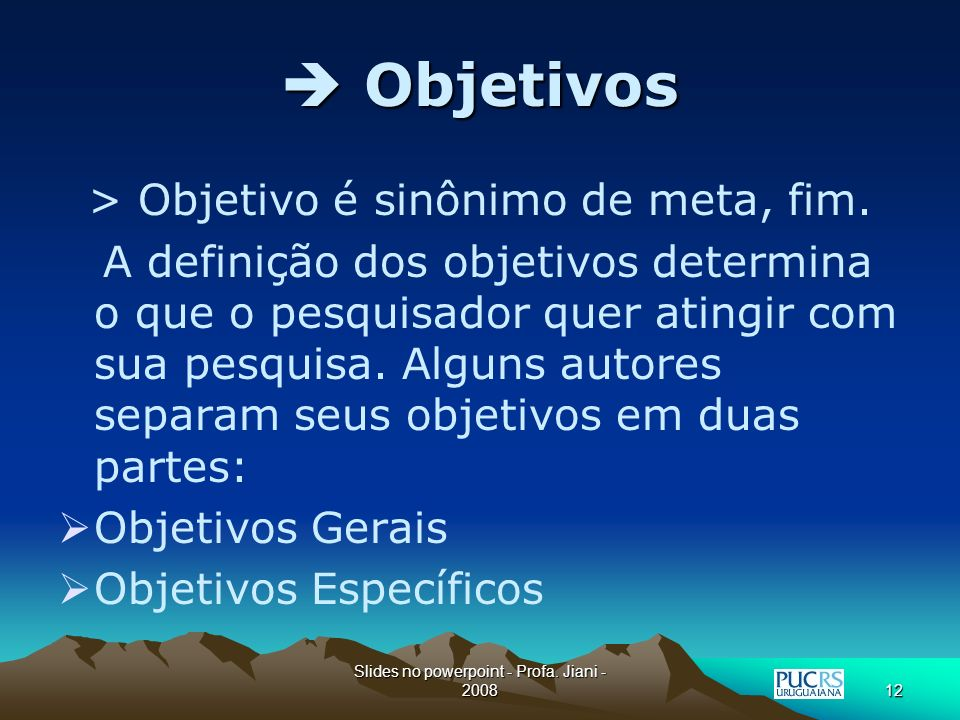 Slides no powerpoint - Profa.