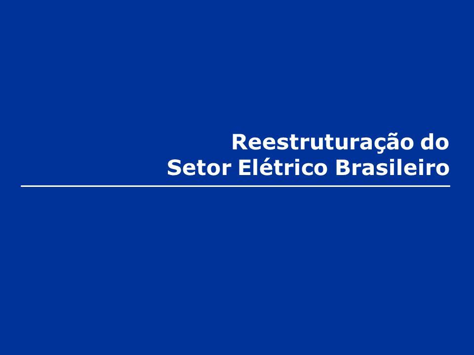 Reestruturação do Setor Elétrico Brasileiro