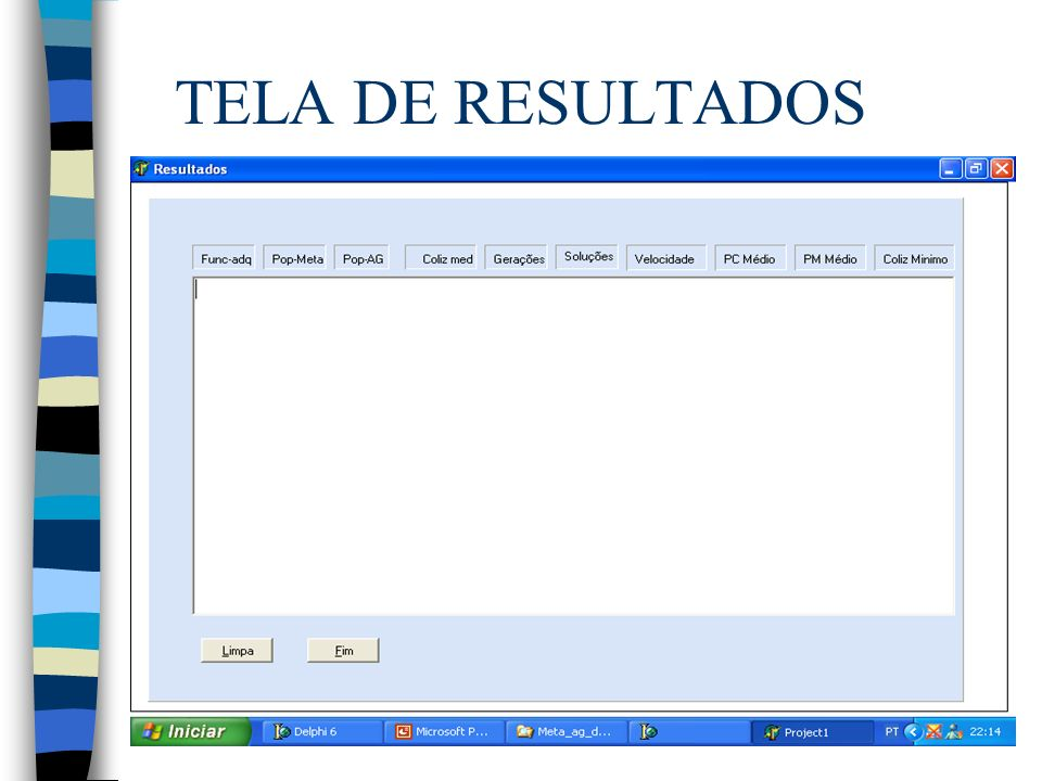 TELA DE RESULTADOS