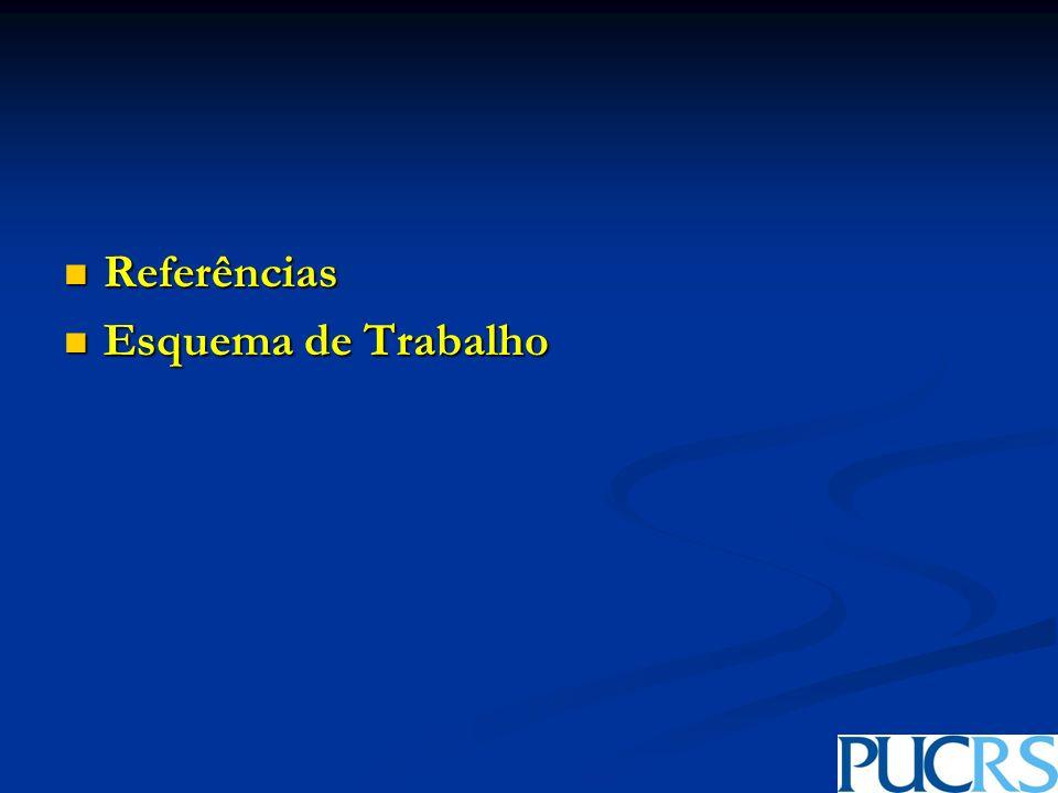 Referências Referências Esquema de Trabalho Esquema de Trabalho