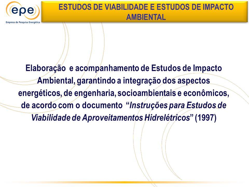 Elaboração e acompanhamento de Estudos de Impacto Ambiental, garantindo a integração dos aspectos energéticos, de engenharia, socioambientais e econôm
