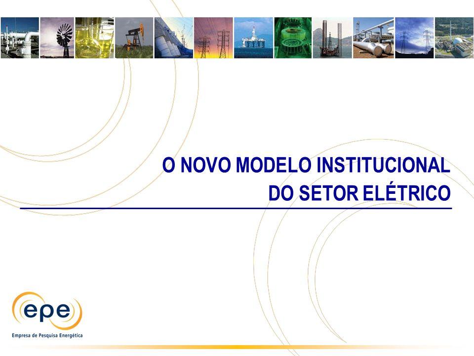 O NOVO MODELO INSTITUCIONAL DO SETOR ELÉTRICO