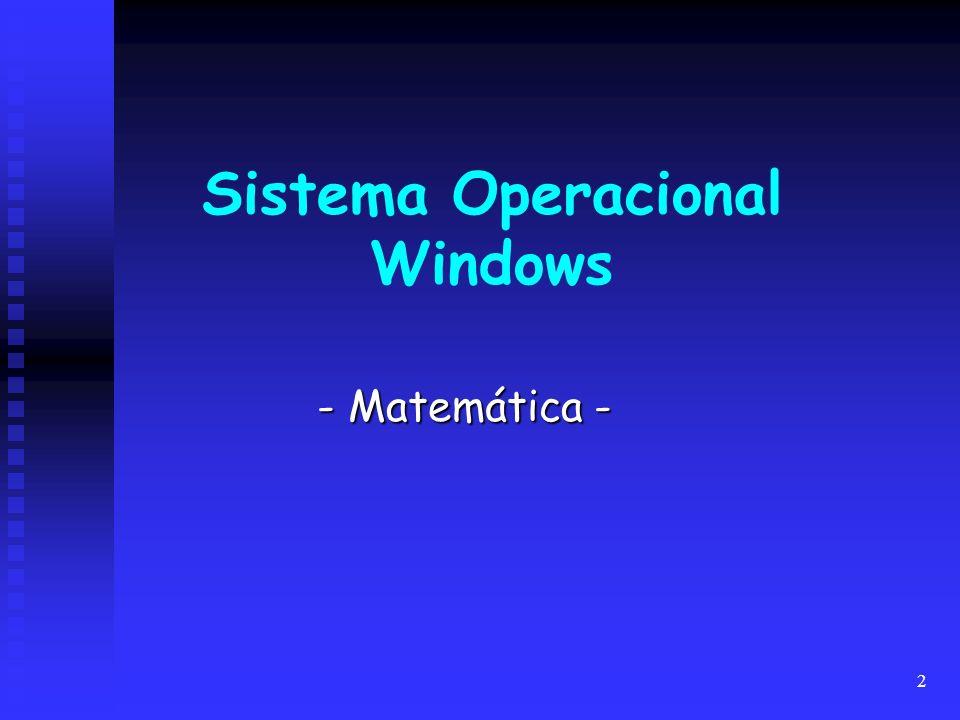 2 Sistema Operacional Windows - Matemática -