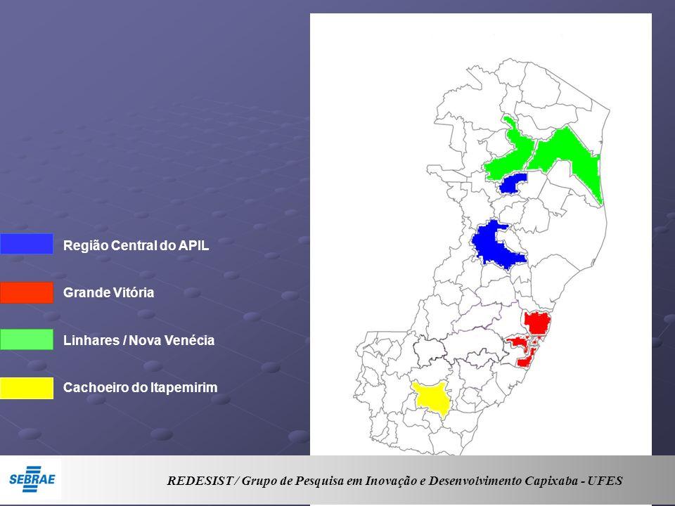 Região Central do APIL Grande Vitória Linhares / Nova Venécia Cachoeiro do Itapemirim