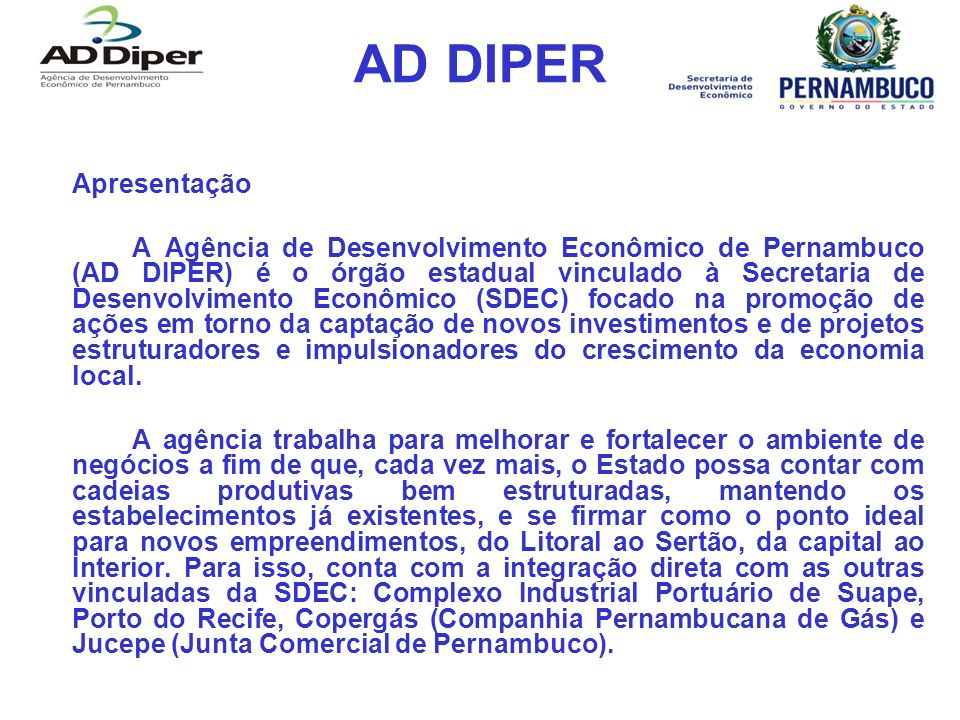 AD DIPER Como funciona o incentivo para o Agrupamento Industrial Relevante.