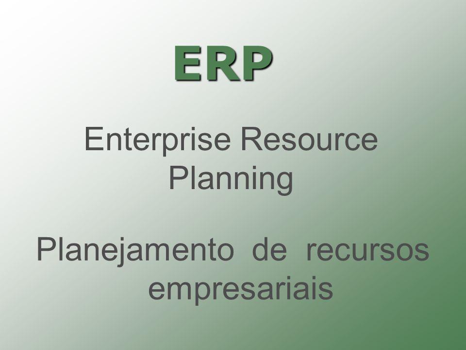 ERP Enterprise Resource Planning Planejamento de recursos empresariais