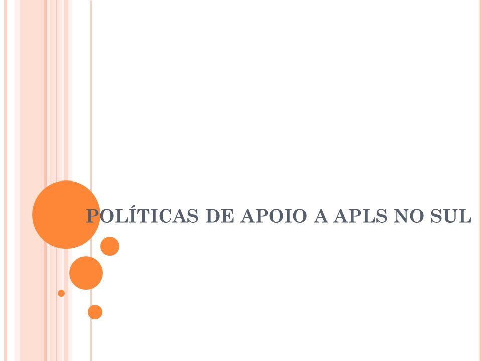 POLÍTICAS DE APOIO A APLS NO SUL