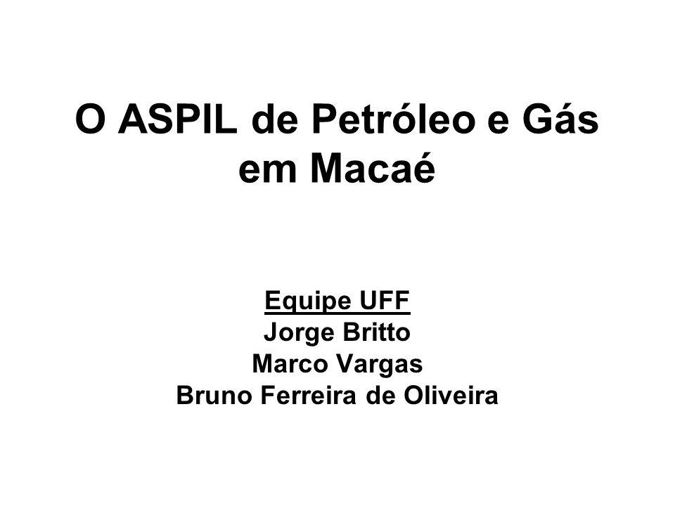 O ASPIL de Petróleo e Gás em Macaé Equipe UFF Jorge Britto Marco Vargas Bruno Ferreira de Oliveira