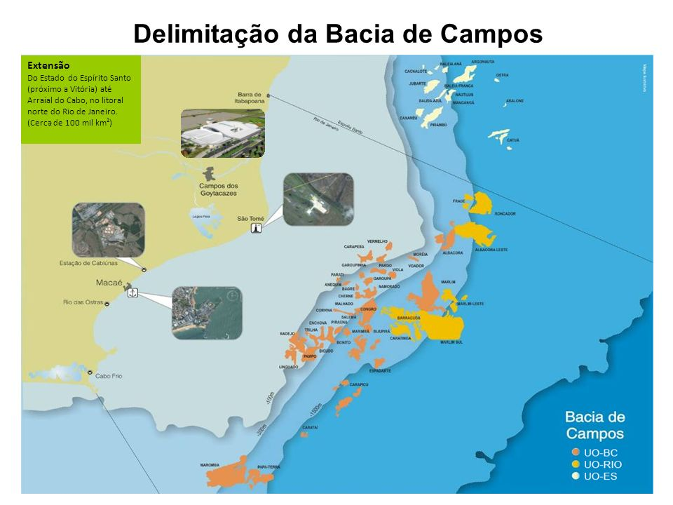 Conheça a Bacia de Campos Extensão Do Estado do Espírito Santo (próximo a Vitória) até Arraial do Cabo, no litoral norte do Rio de Janeiro. (Cerca de