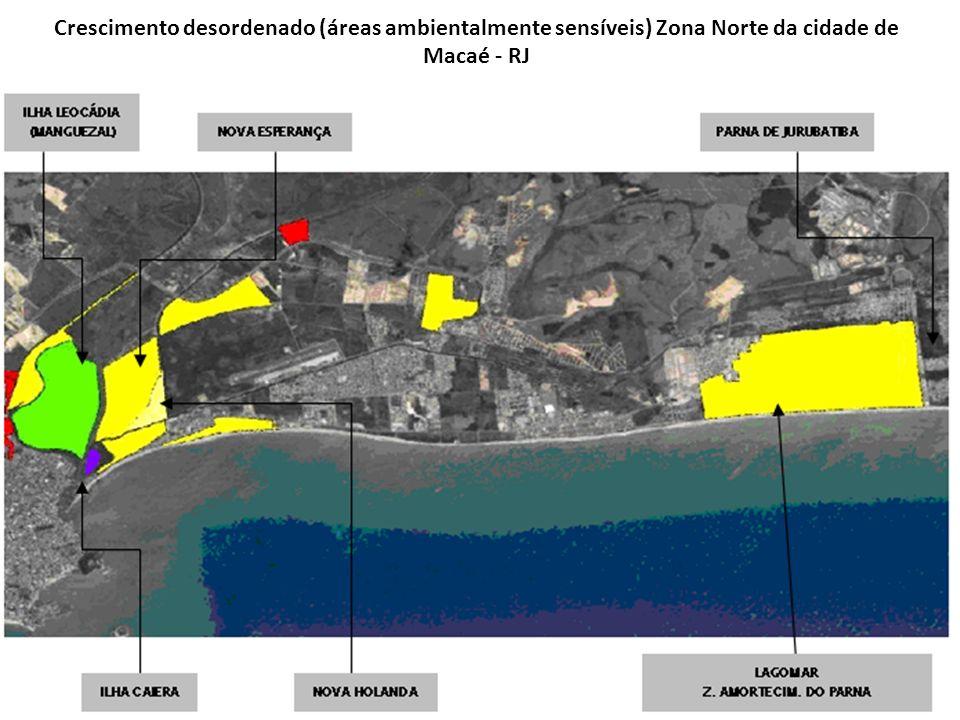 Crescimento desordenado (áreas ambientalmente sensíveis) Zona Norte da cidade de Macaé - RJ