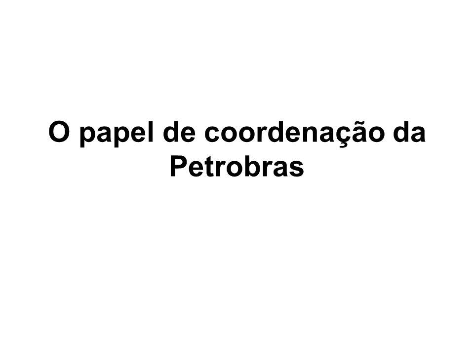 O papel de coordenação da Petrobras
