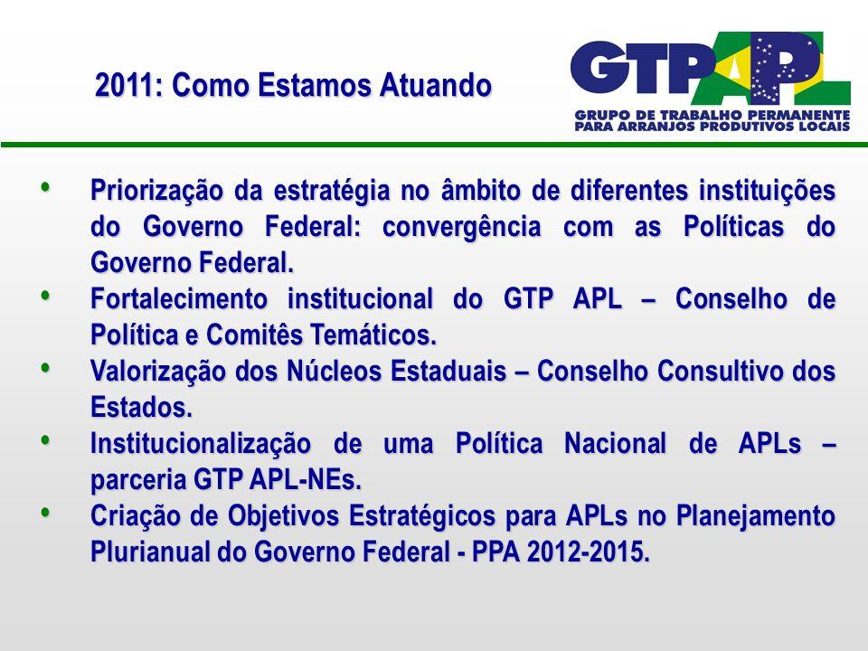 Priorização da estratégia no âmbito de diferentes instituições do Governo Federal: convergência com as Políticas do Governo Federal.