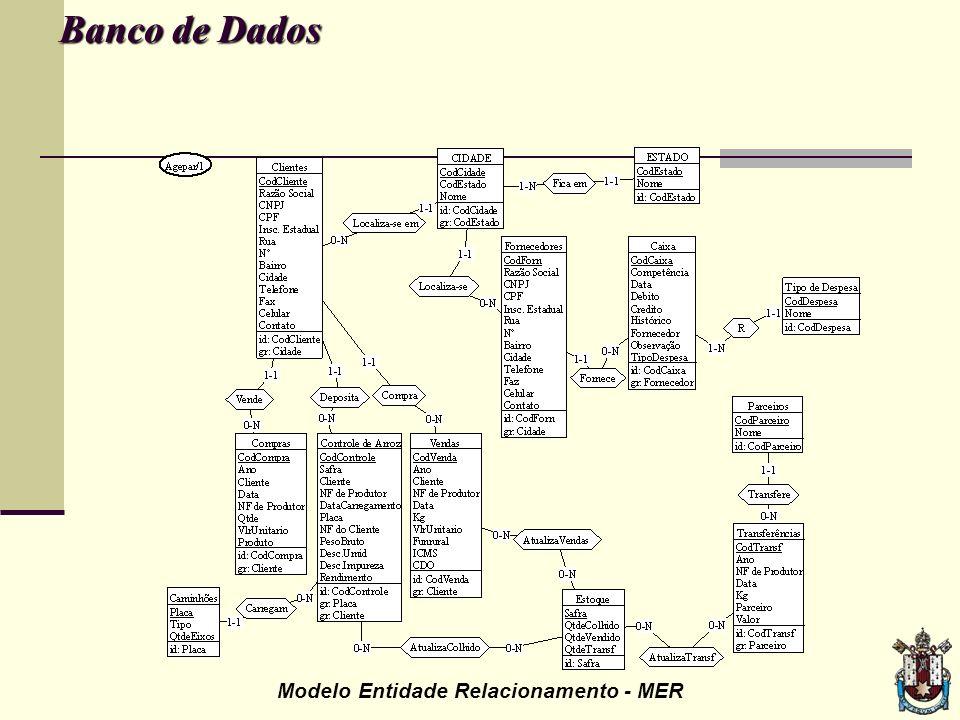 Banco de Dados Modelo Entidade Relacionamento - MER