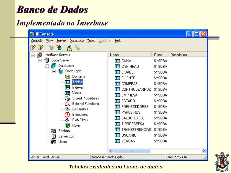 Inicializando o programa... Aplicação Aplicação implementado no Delphi