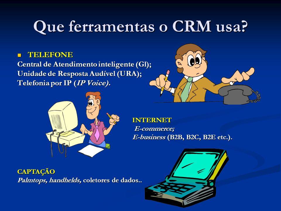 Que ferramentas o CRM usa.