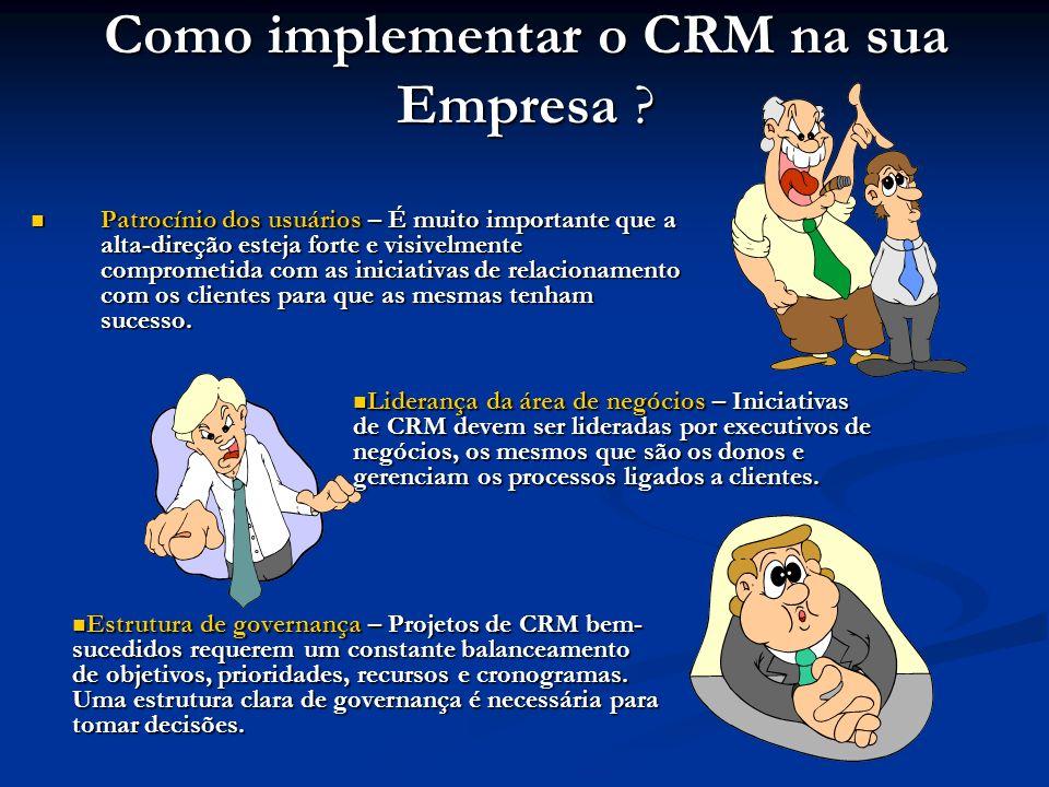 Como implementar o CRM na sua Empresa .