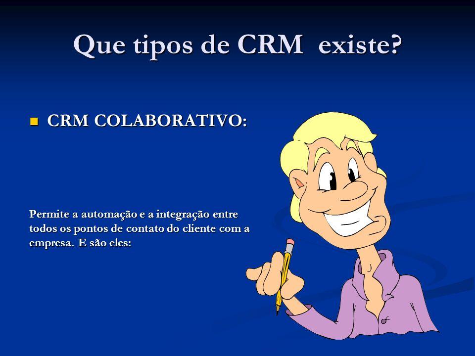 Que tipos de CRM existe.