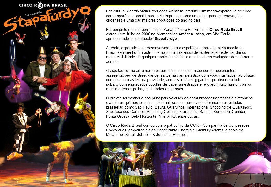 Em 2006 a Ricardo Maia Produções Artísticas produziu um mega-espetáculo de circo contemporâneo, considerado pela imprensa como uma das grandes renovaç