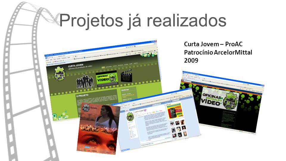 Projetos já realizados Curta Jovem – ProAC Patrocínio ArcelorMittal 2009