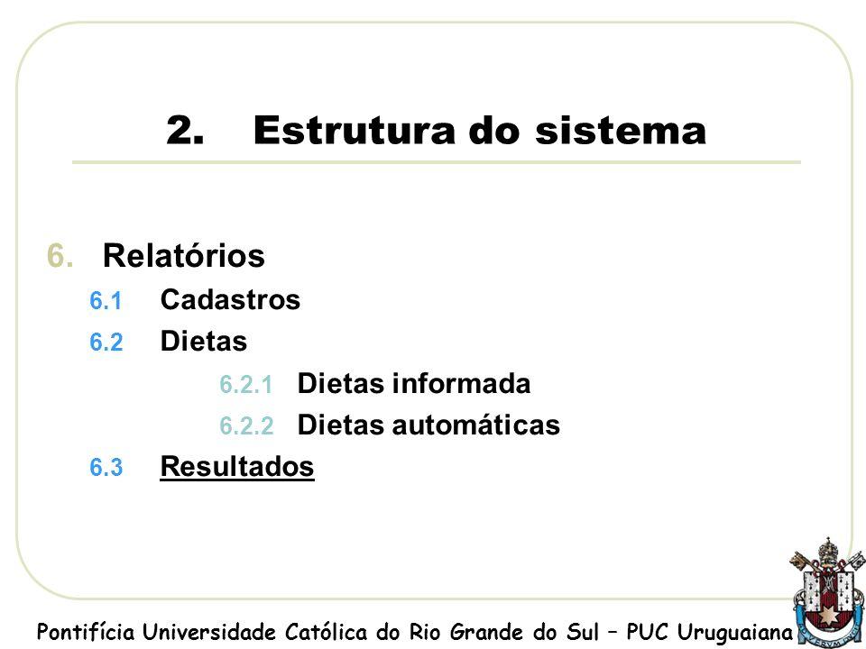 Tela sobre o sistema Pontifícia Universidade Católica do Rio Grande do Sul – PUC Uruguaiana