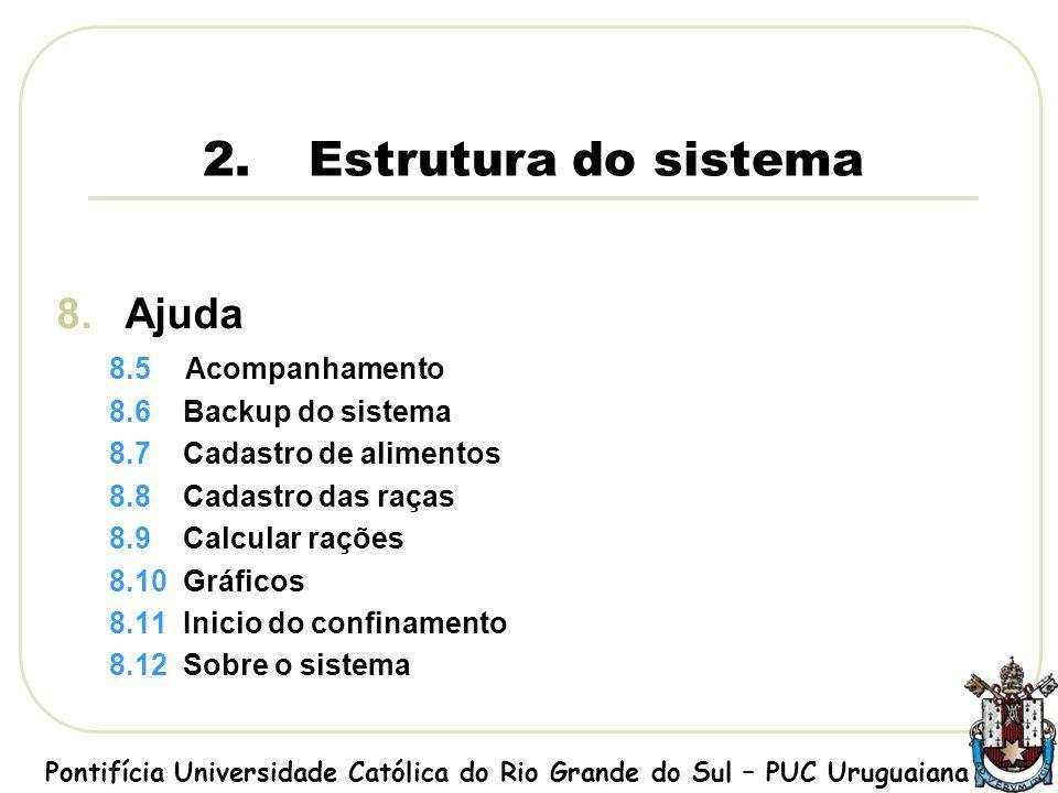 Tela de cálculo das rações Pontifícia Universidade Católica do Rio Grande do Sul – PUC Uruguaiana