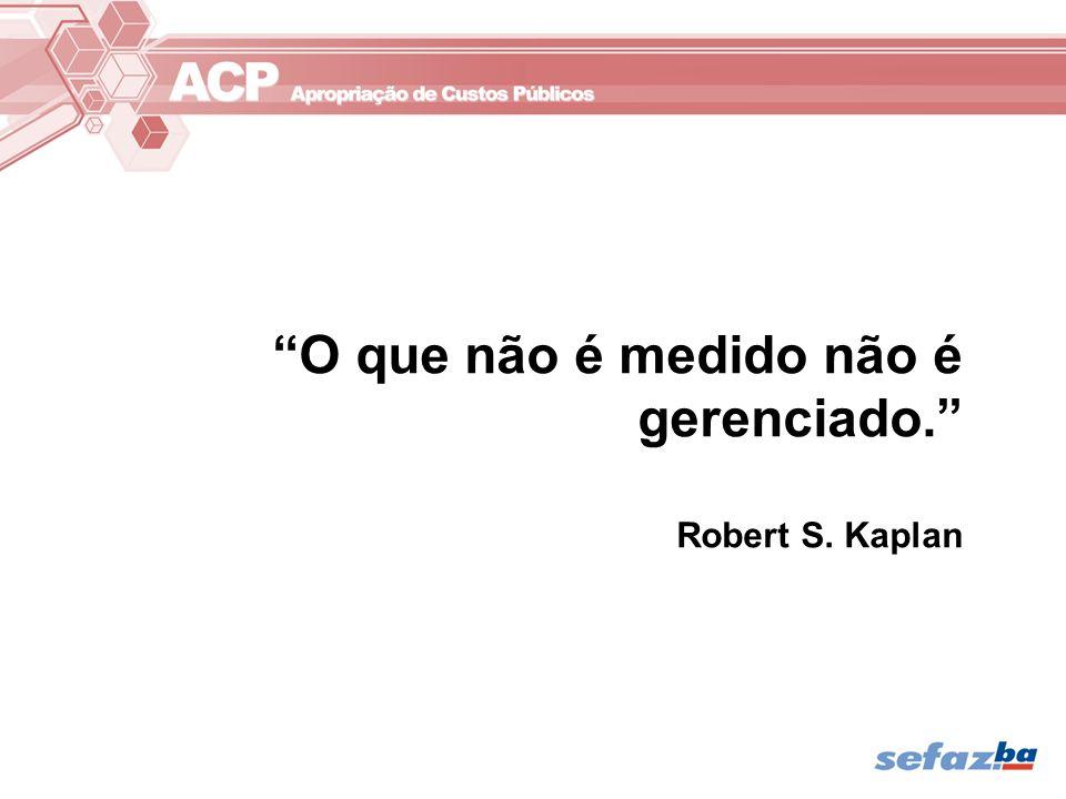 O que não é medido não é gerenciado. Robert S. Kaplan