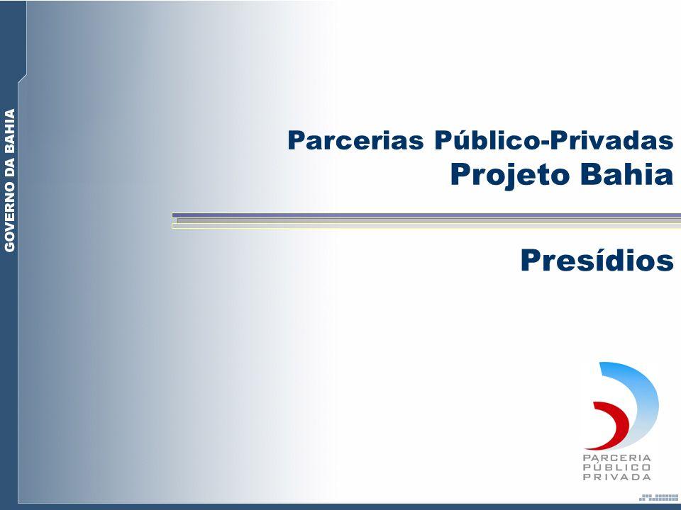 Para atendimento da necessidade atual de 3.800 vagas no sistema prisional e a futura demanda, os Projetos de presídios através de PPP criarão 4.500 novas vagas.