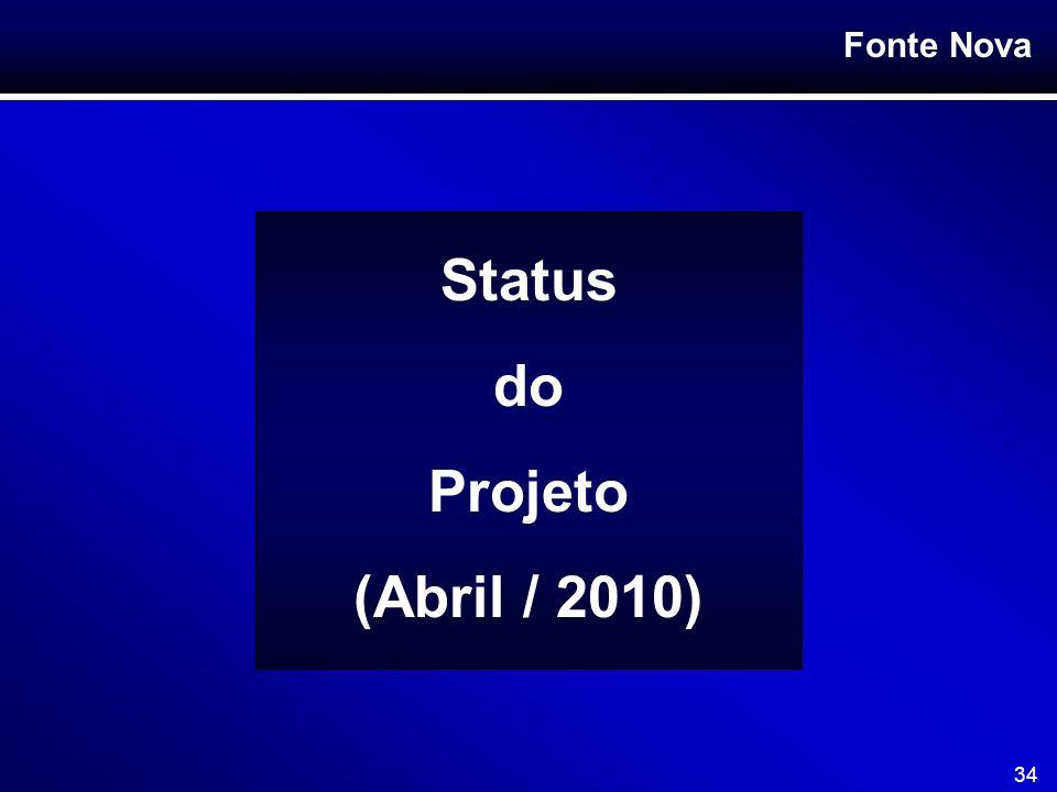 Fonte Nova 34 Status do Projeto (Abril / 2010)