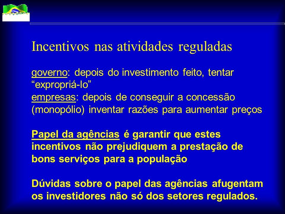 A questão regulatória terá impacto direto no crescimento em 2004, acelerando ou retardando decisões de investidores brasileiros e estrangeiros. Ela te