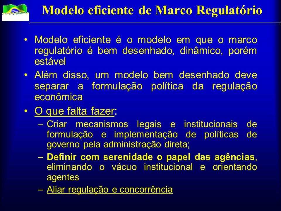 Incentivos nas atividades reguladas governo: depois do investimento feito, tentar expropriá-lo empresas: depois de conseguir a concessão (monopólio) i