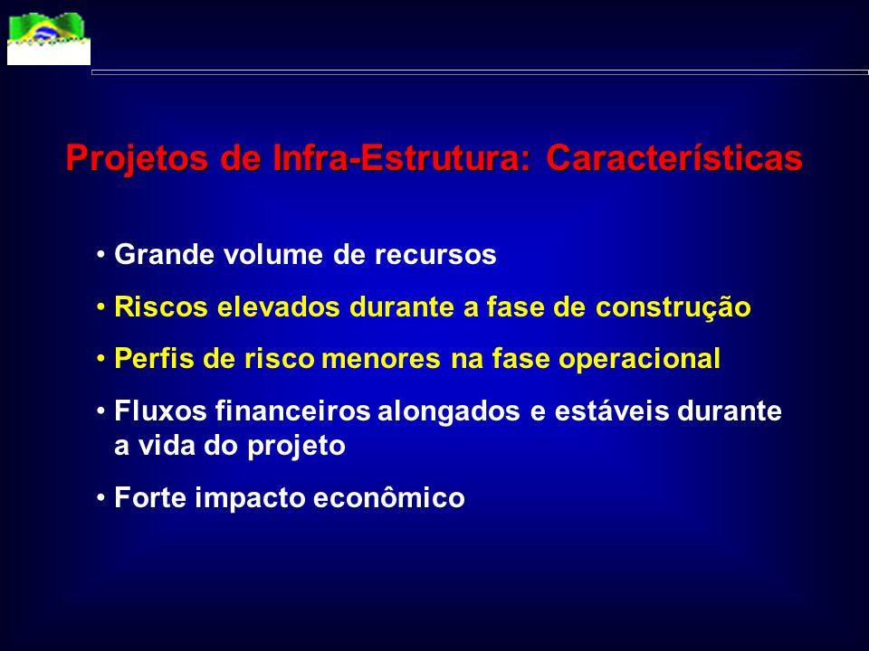 Quadro Atual Recursos escassos e incapacidade de endividamento Prioridade ao financiamento de projetos sociais Aumento da demanda por bens e serviços