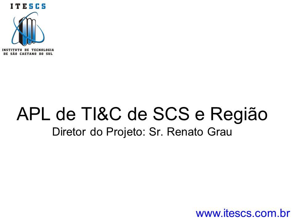 APL de TI&C de SCS e Região Diretor do Projeto: Sr. Renato Grau www.itescs.com.br