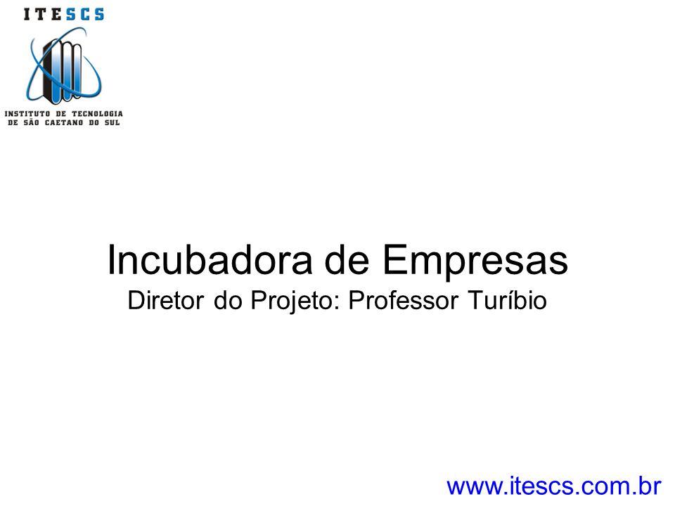 Incubadora de Empresas Diretor do Projeto: Professor Turíbio www.itescs.com.br