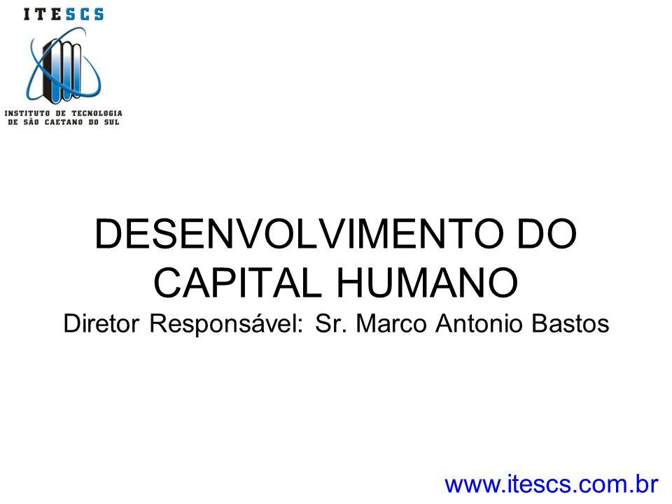DESENVOLVIMENTO DO CAPITAL HUMANO Diretor Responsável: Sr. Marco Antonio Bastos www.itescs.com.br