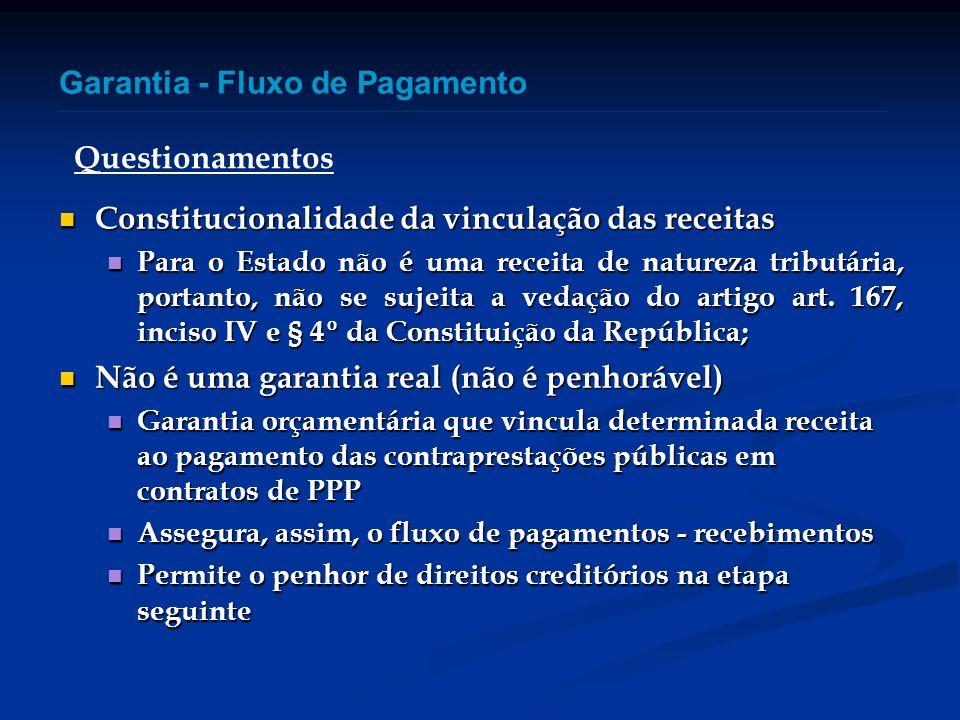 Constitucionalidade da vinculação das receitas Constitucionalidade da vinculação das receitas Para o Estado não é uma receita de natureza tributária,
