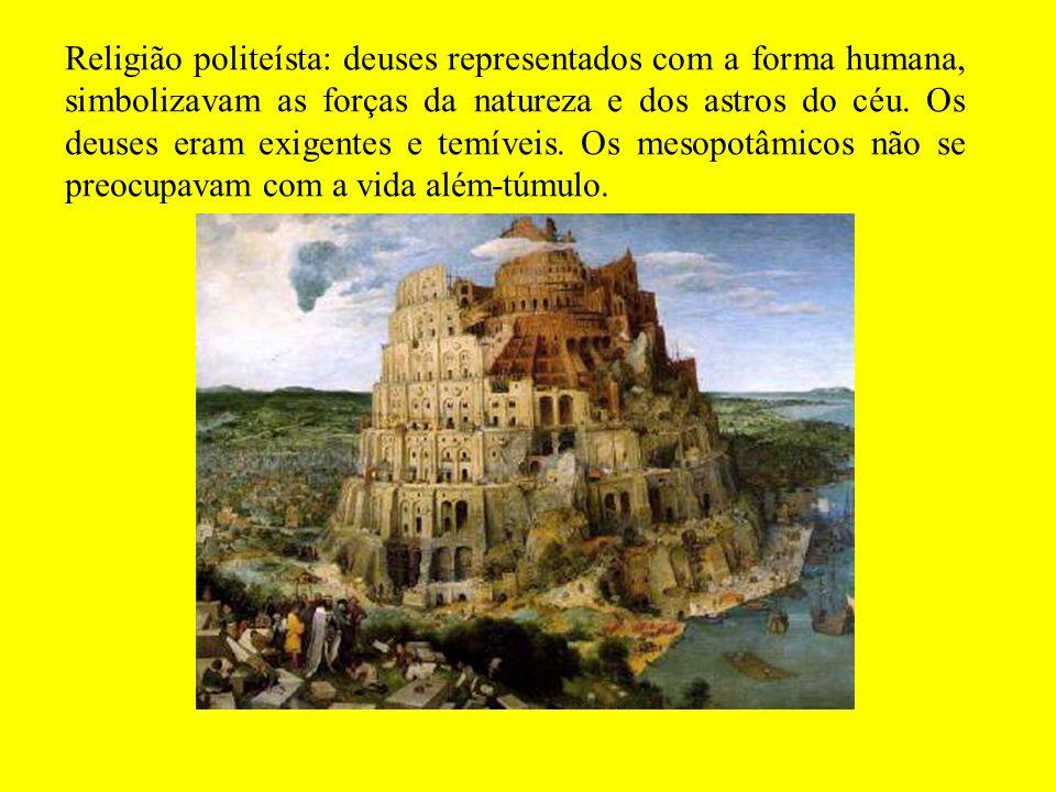 Arquitetura: devido a ausência de pedras, empregaram tijolos de barro.