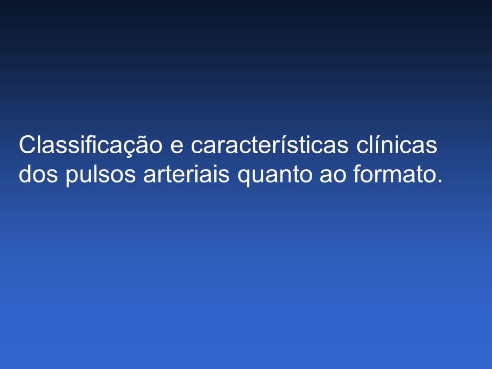 Classificação e características clínicas dos pulsos arteriais quanto ao formato.